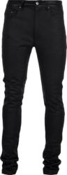 Amiri Snake Embossed Black Leather Pants