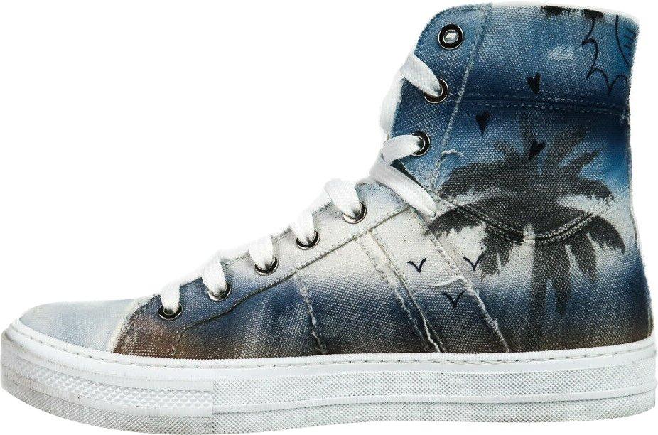 Palm Tree Print Sneakers