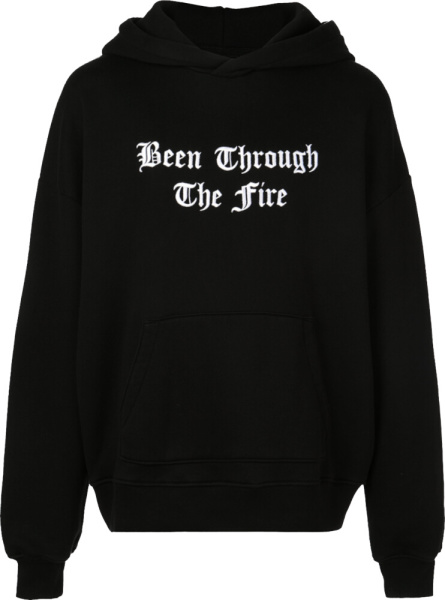 Amiri Throught The Fire Print Black Hoodie