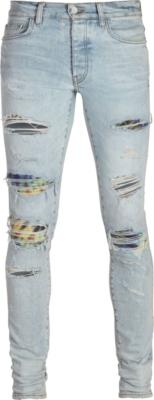 Amiri Tie Dye Underpatch Light Jeans