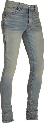 Amiri Tinted Half Track Blue Skinny Jeans