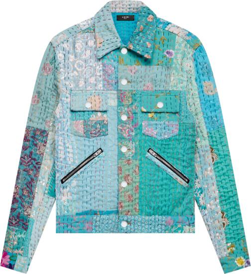 Amiri Vintage Quilt Patchwork Jacket