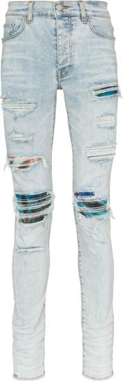 Amiri Watercolor Underpatch Light Mx1 Jeans