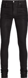 Amiri Waxed Black Stack Jeans