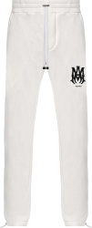 Amiri White And Black Ma Bones Logo Embroidered Sweatpants