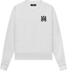 Amiri White And Black Ma Bones Logo Embroidered Sweatshirt