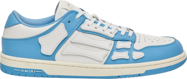 Amiri White And Light Blue Low Top Skel Top Sneakers