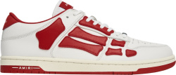Amiri White And Red Low Top Skeleton Sneakers