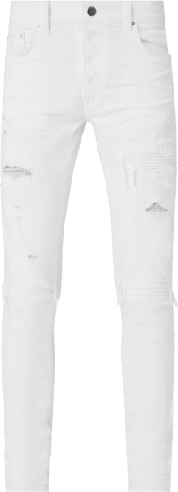 Amiri White And White Ribbed Underpatch Mx1 Jeans