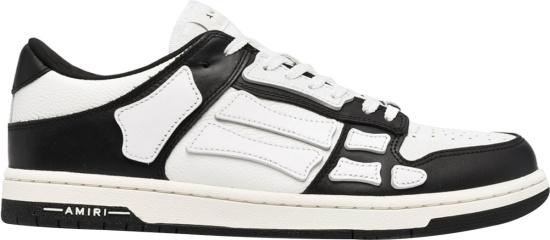 Amiri White Black Low Top Skeleton Bone Sneakers