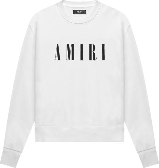 Amiri White Core Logo Print Sweatshirt