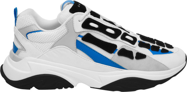 Amiri White Grey Blue And Black Bone Runner Sneakers