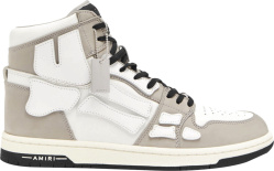 Amiri White Grey High Top Skeleton Sneakers