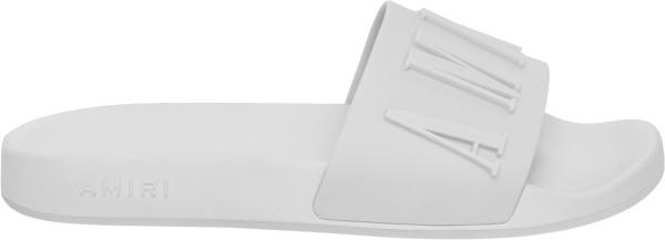 Amiri White Logo Pool Slides