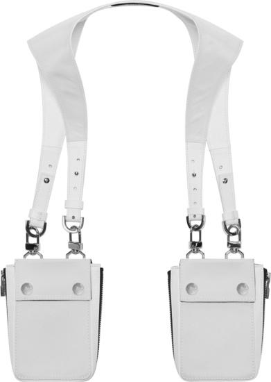 Amiri White Nylon Harness