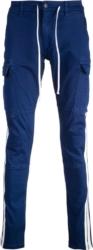 Amiri White Side Stripe Blue Cargo Pants