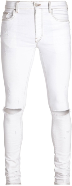 Amiri White Slash Jeans