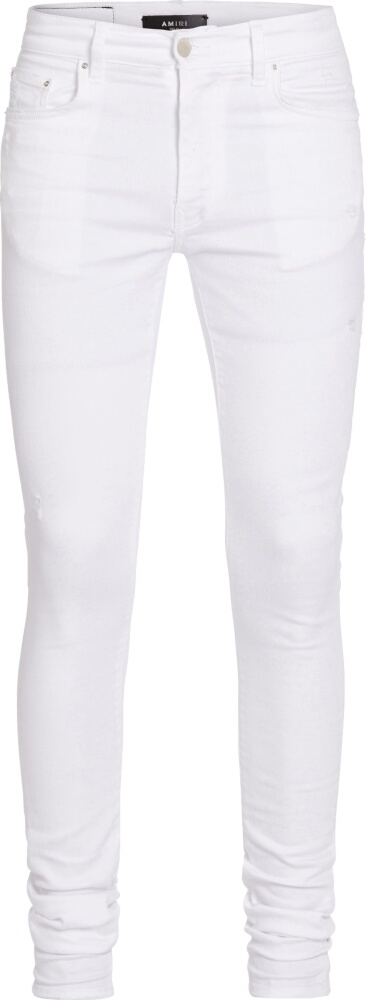 Amiri White Stacked Jeans