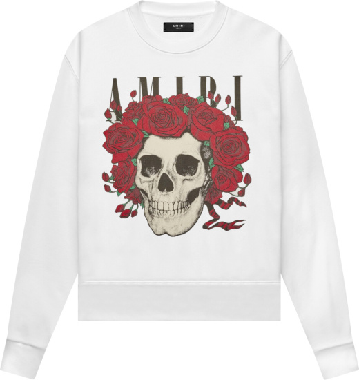 Amiri X Grateful Dead White Skull Sweatshirt