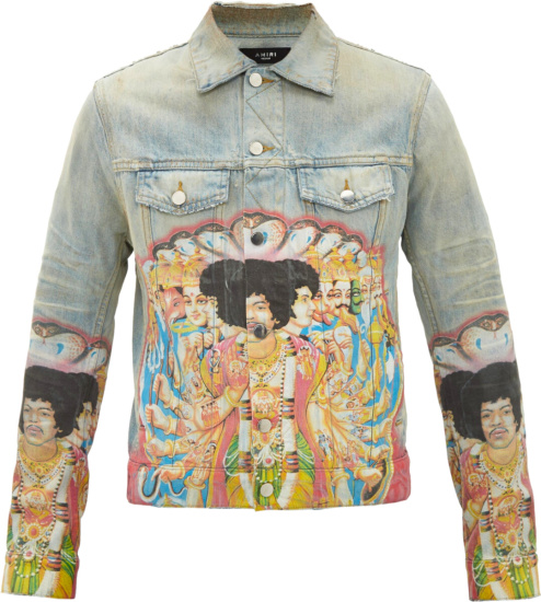 Amiri X Jimmi Hendrix Print Denim Jacket