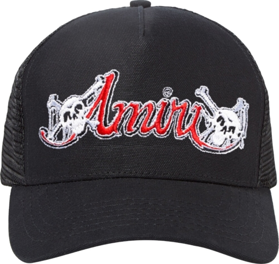 Amiri X Motley Crue Black Trucker Hat