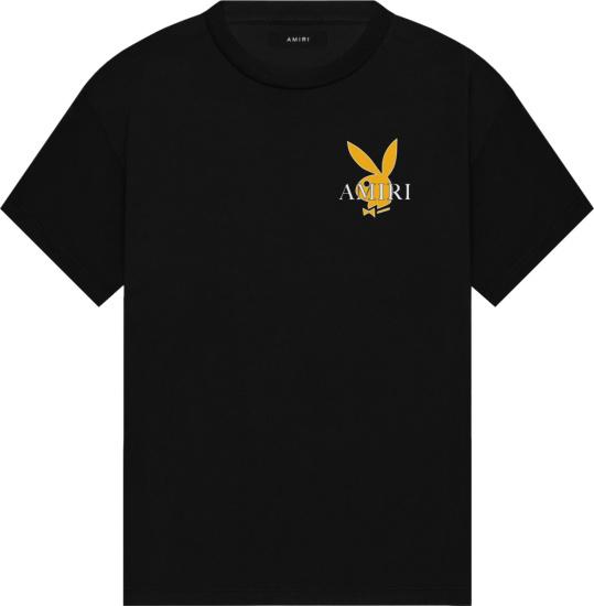 Amiri X Playboy Black And Yellow Playboy Cover T Shirt