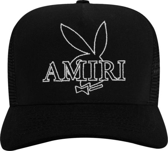Amiri X Playboy Black Playboy Bunny Trucker Hat