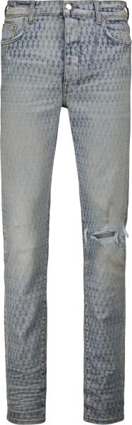 Amiri X Playboy Clay Indigo Bunny Check Jeans