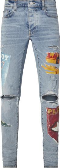 Amiri X Playboy Light Vintage Indigo Magazine Jeans