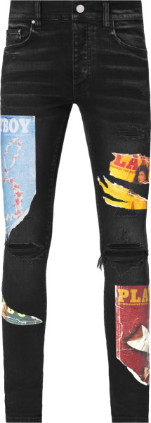 Amiri X Playboy Magazine Aged Black Jeans
