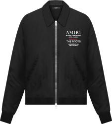 Amiri X The Roots Black Aw21 Logo Jacket