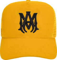 Amiri Yellow And Black Ma Trucker Hat