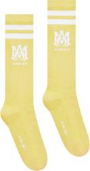 Amiri Yellow And White Ma Logo Socks
