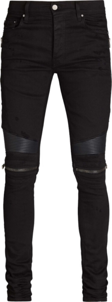 Amiri Zip Black Biker Jeans