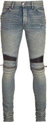 Amiri Zip Detail Distressed Biker Jeans