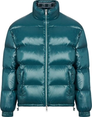Armani Exchange Green Puffer Jacket