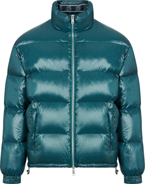 Armani Exchange Green Puffer Jacket