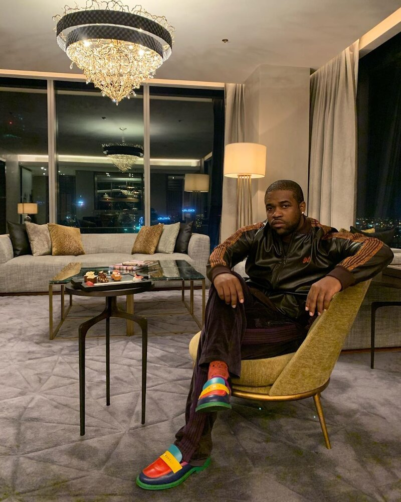 Asap Ferg Relaxes In Dubai In Needles Jacket And Pants With Chanel Loafers