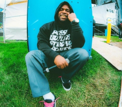 Asap Ferg Wearing A Pussy Builds Strong Bones Crewneck