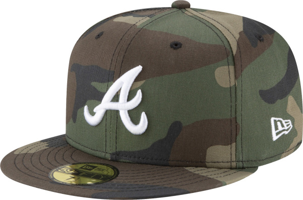 Atlanta Braves Camouflage Fitted Hat