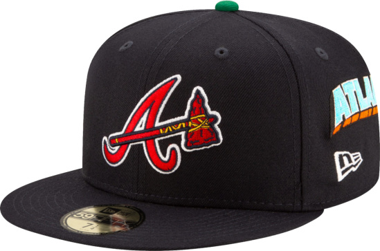 Atlanta Braves Navy Allover Embroidered 59fifty Hat