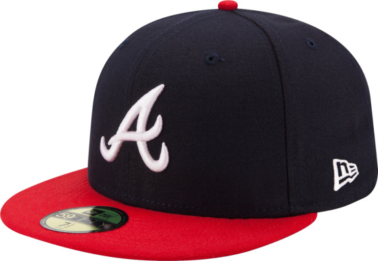 Atlanta Braves Navy And Red Fitted Hat