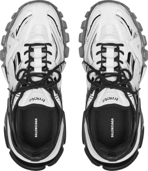 Balencaiga White Black Track2 Sneakers