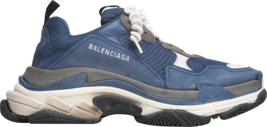 Balenciaga Blue Curly Lace 'Triple S