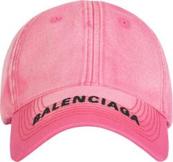 Pink & Black Brim-Logo Hat