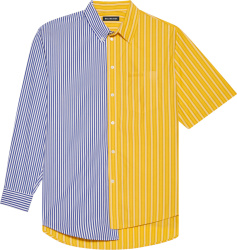 Yellow & Blue Striped '50/50' Shirt