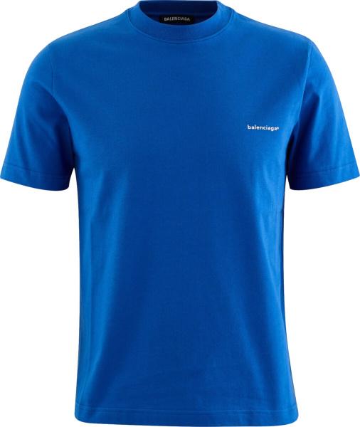 Balenciaga Blue 'balenciaga®' T Shirt