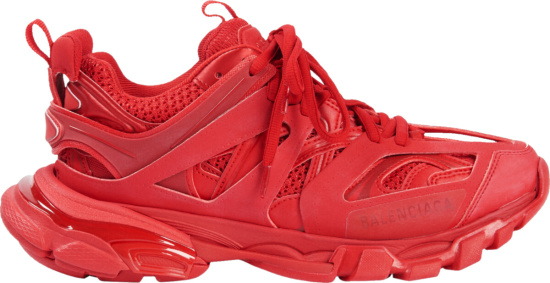 Balenciaga All Red Track Sneakers