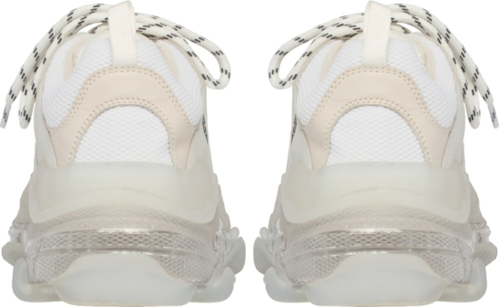 Balenciaga All White Triple S Sneakes