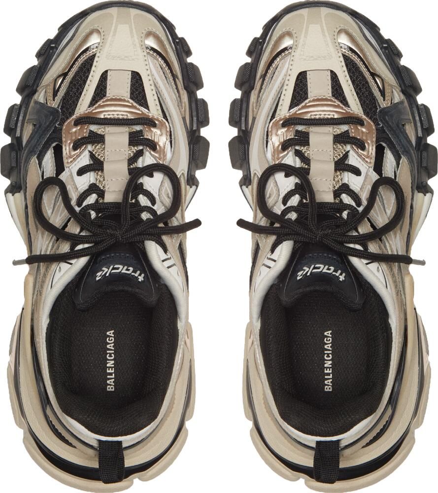 Balenciaga Beige And Black Sneakers